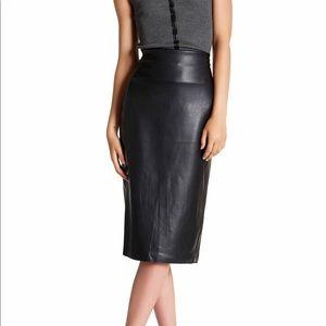Catherine Malandrino Faux Leather Pencil Skirt